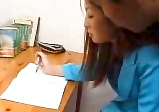 asian secretary humiliated in the office