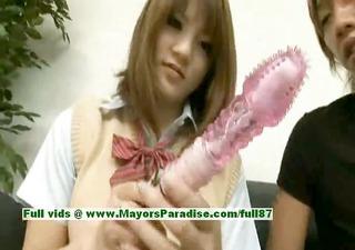 risa tsukino virginal asian gal is a cute